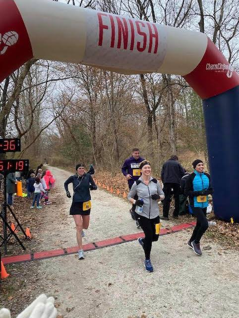 Amanda Berry running her first marathon.