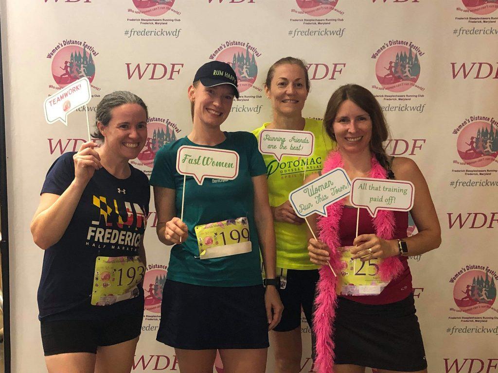 Katie (far left), Meredith Crow, Kim Whalen, and Jamie Leinauer at the 2019 WDF.
